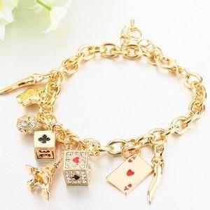 Studded card deck bracelet
